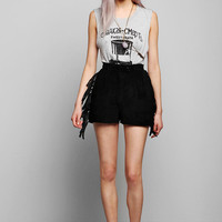 Urban Outfitters - Vintage '80s Suede Fringe Short