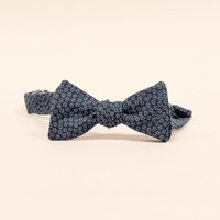 DOORBUSTER DAY Navy Blue Mini Floral Print Bow Tie