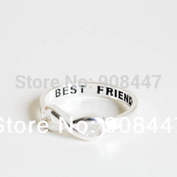 30PCS-R020  Best Friends Ring Infinity Ring Engraved Rings O Jewelry Gold Silver plated Friends Gifts rings