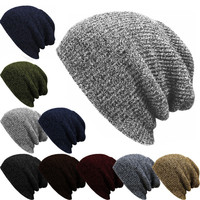 1PC Knit Men's Women's Baggy Beanie Oversize Winter Warm Hat Ski Slouchy Chic Crochet Knitted Cap Skull