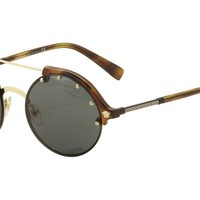 Versace Women's VE4337 VE/4337 260/87 Havana/Pale Gold Round Sunglasses 53mm