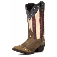Laredo Keyes Stars And Stripes Red White Blue Western Boots