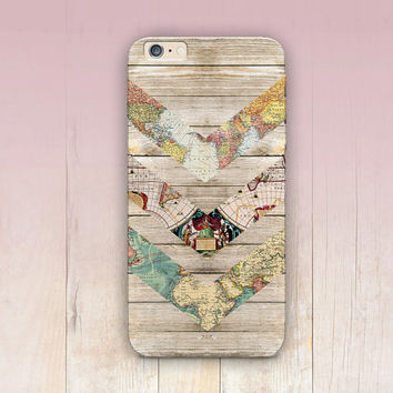 World Maps Wood Print Phone Case- iPhone 6 Case - iPhone 5 Case - iPhone 4 Case - Samsung S4 Case - iPhone 5C - Tough Case - Matte Case