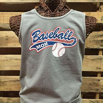 SALE Southern Chics Comfort Colors Baseball Mom Girlie Bright T Shirt Tank Top
