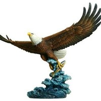 Eagle Catching Fish Statue