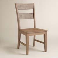 Distressed Wood Harrow Dining Chairs, Set of 2