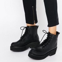 ASOS ALEXANDER Lace Up Chunky Ankle Boots