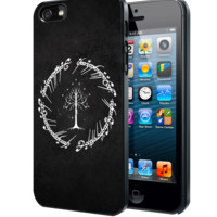 White Tree in Lord of The Rings Circle Script Samsung Galaxy S3 S4 S5 Note 3 , iPhone 4 5 5c 6 Plus , iPod 4 5 case