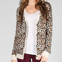 Volcom For Keeps Womens Cardigan Cheetah  In Sizes