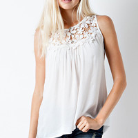 Daisy Summer Afternoon Top - White