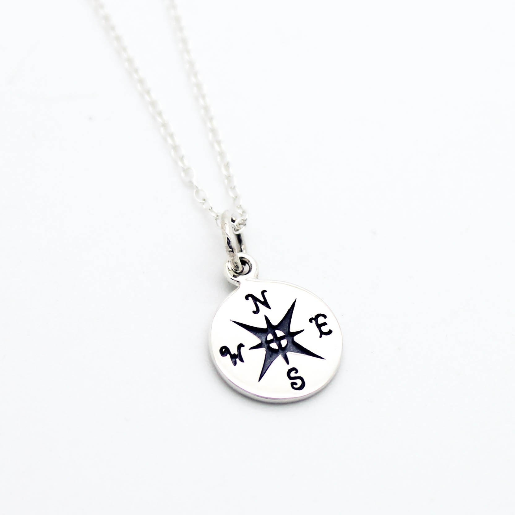 Image of Compass sterling silver necklace