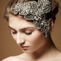 Jenny Packham - Luxury Design House. Bridal and Ready to Wear Dresses & Accessories - Acacia III Silver Bridal Headdress