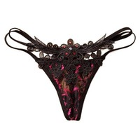 2017 Hot Sale Diamond Lace G String And Thongs Women Sexy Low Waist Ladies Underwear Briefs Panty Lingerie #18