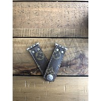 Upcycled LV watch Band
