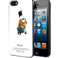 Minions Catching Apple Samsung Galaxy S3 S4 S5 Note 3 , iPhone 4 5 5c 6 Plus , iPod 4 5 case, HtC One M7 M8