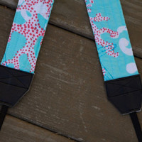 CAMERA STRAP in Lilly Pulitzer  Blue Dirty Shirley by BrowardPatch