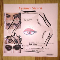 New 6 in 1 Magic Eyeliner Stencil Model Beginner Eye Makeup Helper Device Tool Assistant Professional Women Draw Eye Liners Guide Card Gift
