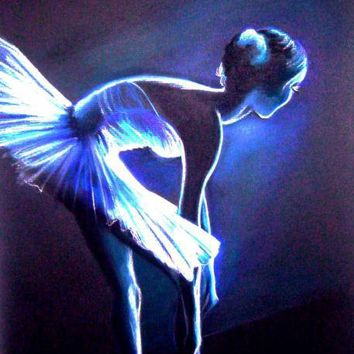 Ballet in Blue Drawing by L Lauter - Ballet in Blue Fine Art Prints and Posters for Sale
