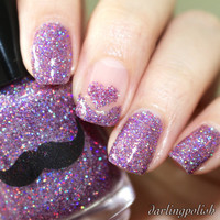 Arwen's Hooded Cape- Purple Holographic Glitter Nail Polish