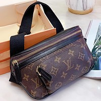 LV New fashion monogram print waist bag shoulder bag crossbody bag