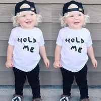 kids short sleeve t-shirts  Baby Boys Girls Letter Toddler Summer Tops T-shirt  Short Sleeve Cotton Tee Clothes