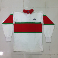 vintage umbro longbsleeve polo shirt / rugby jersey MEDIUM size