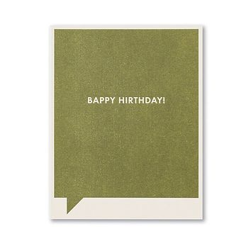 Birthday Greeting Card - Bappy Hirthday!