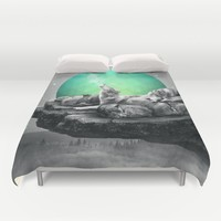 Echoes of a Lullaby / Geometric Moon Duvet Cover by Soaring Anchor Designs | Society6