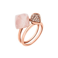 Michael Kors Blush Stacking Ring Set, Rose Golden LAVELIQ