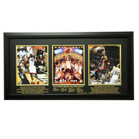"""2012-2013 Miami Heat Champions Limited Edition Triple 8x10 Frame, Black"""