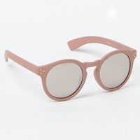With Love From CA Plastic Round Sunglasses - Womens Sunglasses - Brown - One
