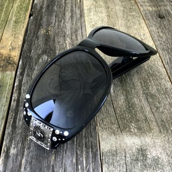 Polarized Celebrity Rhinestone Vintage Inspired Sunglasses