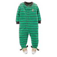 Carter's Striped Microfleece Footed Pajamas - Baby