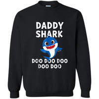 Mens Pinkfong Daddy Shark Official  Printed Crewneck Pullover Sweatshirt