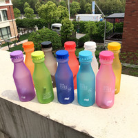 Hot Sale 550ML Candy Colord Portable Plastic My Water Bottle Tour Sport Lemon Juice Cup Drinkware High Quality BPA Free