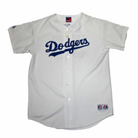 Majestic Dodgers #55 Russell Martin Jersey Mens Size Small - Default Title