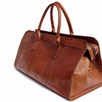 Vintage Retro Looking Weekender / Carry On / Travel Duffle Bag - Traveler
