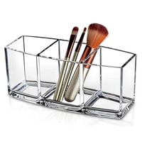 Acrylic Makeup Organizer Cosmetic Holder Makeup Tools Storage Box Organizadora Brush and Accessory Organizer Box