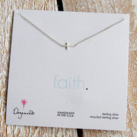 Dogeared Silver Cross Necklace