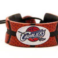 Gamewear NBA Leather Wrist Band - Cavaliers