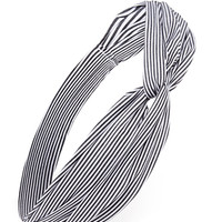 Striped Twisted-Front Headwrap