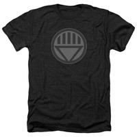 GREEN LANTERN/BLACK SYMBOL-ADULT HEATHER-BLACK