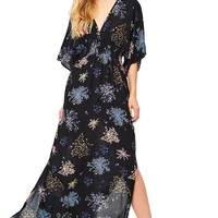 Gathered Floral Maxi Dress
