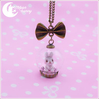Crystallized bunny Necklace