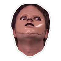 Dwight With A Mask Sticker