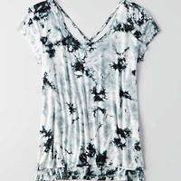 AEO Soft & Sexy Strappy Front T-Shirt , White