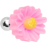 16 Gauge Baby Pink Desert Cactus Flower Cartilage Tragus Earring   Body Candy Body Jewelry