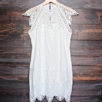 rosetta dress in cream by saylor