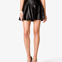 Faux Leather A-Line Skirt