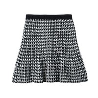 Houndstooth Knit Skirt